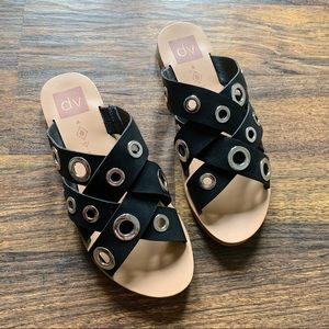Black and Silver DV Retro Sandals